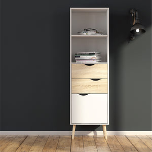 OSLO  Bookcase 2 drawers/1 door