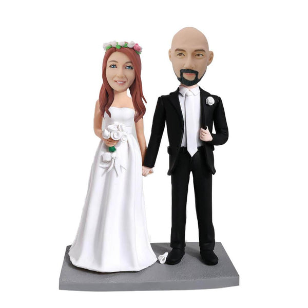 Hind in Hand Couple Custom Bobblehead