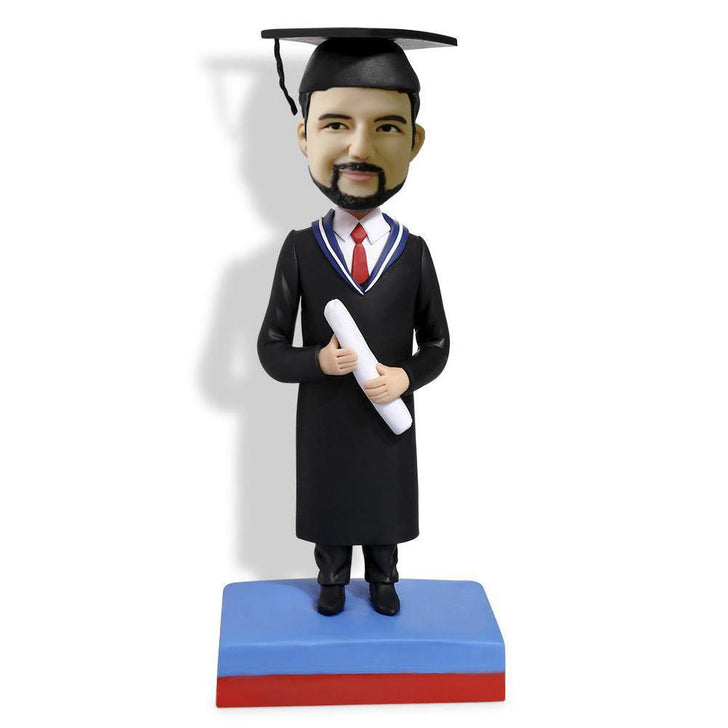Graduation Bobblehead with diploma
