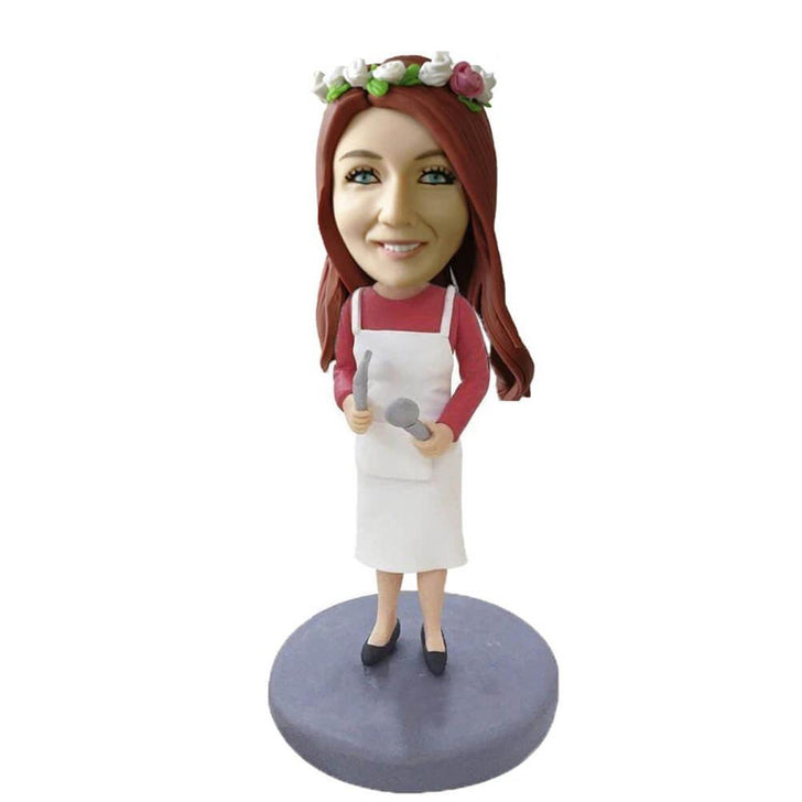 Female Bobblehead Cook in Apron
