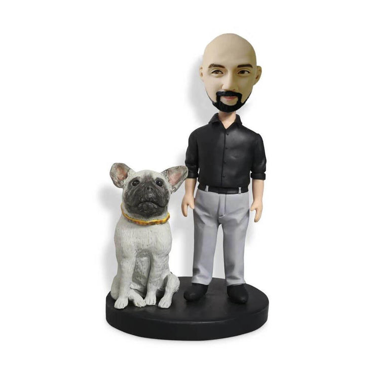 Man with a dog Bobblehead