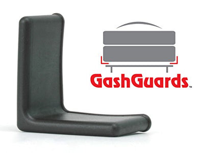 GashGuards Deluxe Rubberized Plastic Bed Frame End Caps, Set of 2