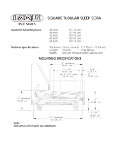 Classic Square 3500 Series Heavy-Duty Replacement Sleeper Sofa Mechanism