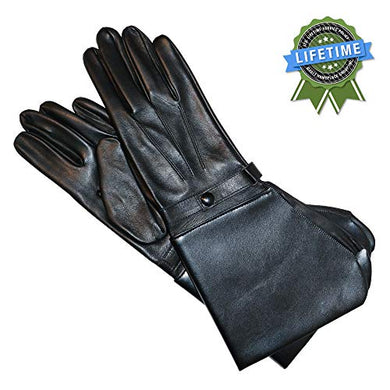 Retro Corsa Miglia Motorcycle Gloves, Men's, Black Handmade Italian