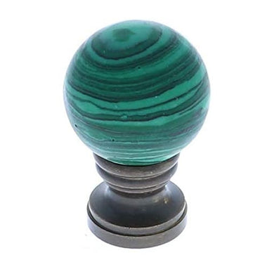 Art Finial - Green Malachite Ball, Set of 2, Mini Works of Art, Update Your Lamps!