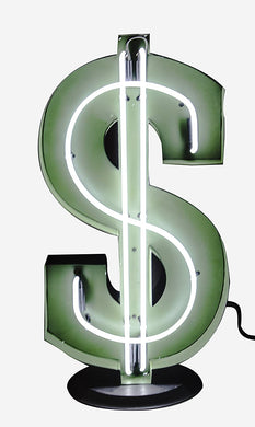 Large Retro-Inspired Neon Dollar Sign 32