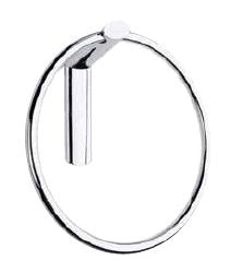 Ellisse Collection Towel Ring, Satin Nickel, Clear Coated