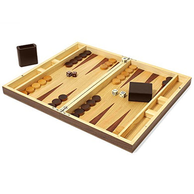 Swing Design Collector's Edition Backgammon with Walnut & Oak Finish