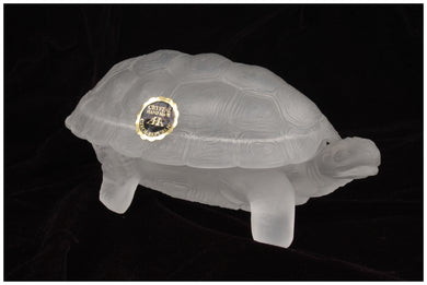Wallace Flynn Matte Crystal Handmade Turtle Jewelry Box