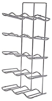 Wine Rack, steel, chrome-plated, 260 x 185 x 624mm
