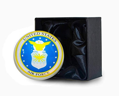 Crystal Paperweight - Air Force Edition