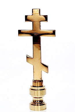 Art Finial - Orthodox Cross, Set of 2 - Religious Works of Art, Update Your Lamps!