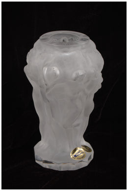 Wallace Flynn Small Matte Crystal Handmade Vase (White)