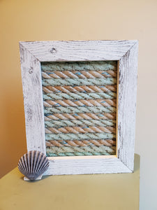 8x10in Framed Recycled Fishing Rope
