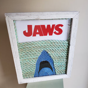 16x20in JAWS Cover Art with Felt Lettering