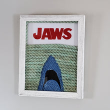 Load image into Gallery viewer, 16x20in JAWS Cover Art with Felt Lettering