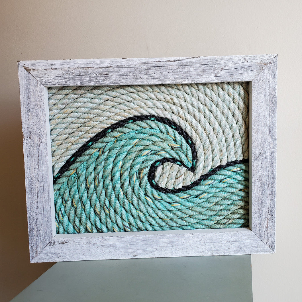 11x14in Turquoise Tidal Wave