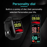 Smart Watch Men Women Smartband Blood Pressure Measurement Waterproof Fitness Tracker Bracelet Heart Rate Monitor