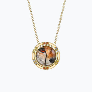 Cheetah Face Spencer Portrait Necklace