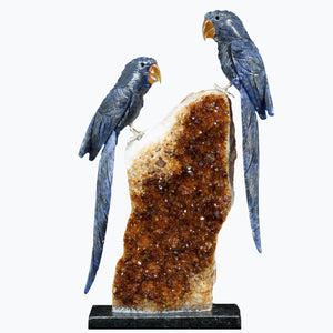 Pair of Sodalite Macaws