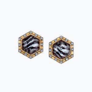 Zebra Twist Spencer Portrait Earrings