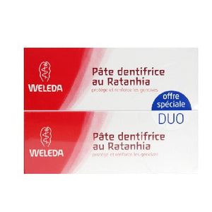 Duo Dentifrice Ratanhia 2x75ml Weleda