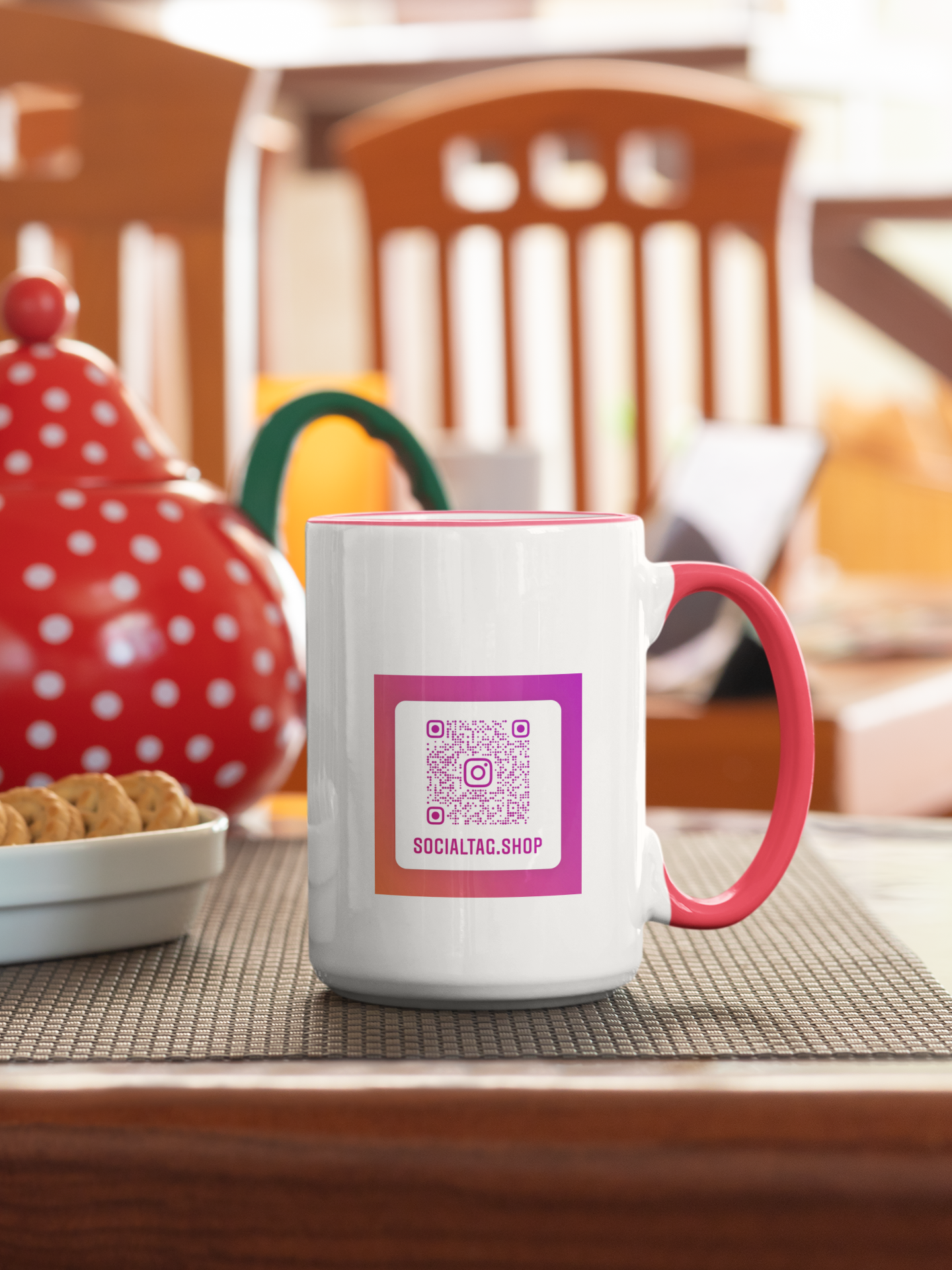 Mug with custom Instagram Nametag