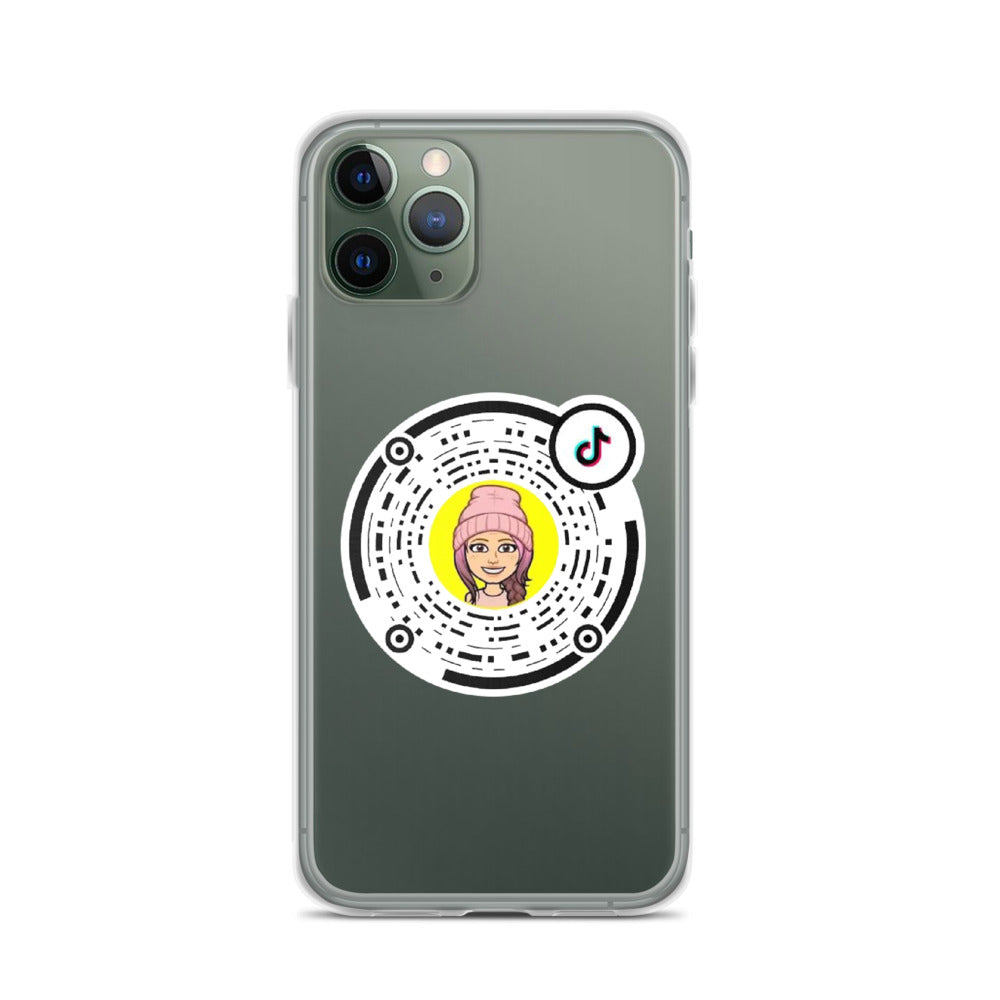 Clear iPhone Case with custom Tiktok TikCode