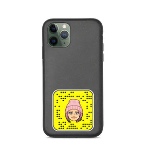 Biodegradable iPhone case with custom Snapchat Snapcode