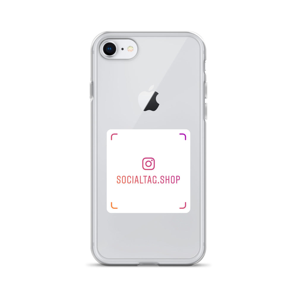 Clear iPhone Case with custom Instagram Nametag