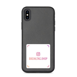 Biodegradable iPhone case with custom Instagram Nametag