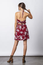 Load image into Gallery viewer, Maroon Halter Mini Dress