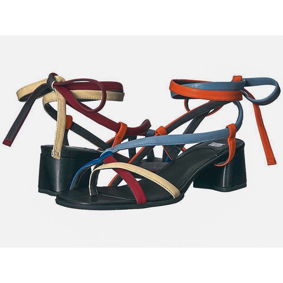 Camper Twins Strappy Multi Color Sandal