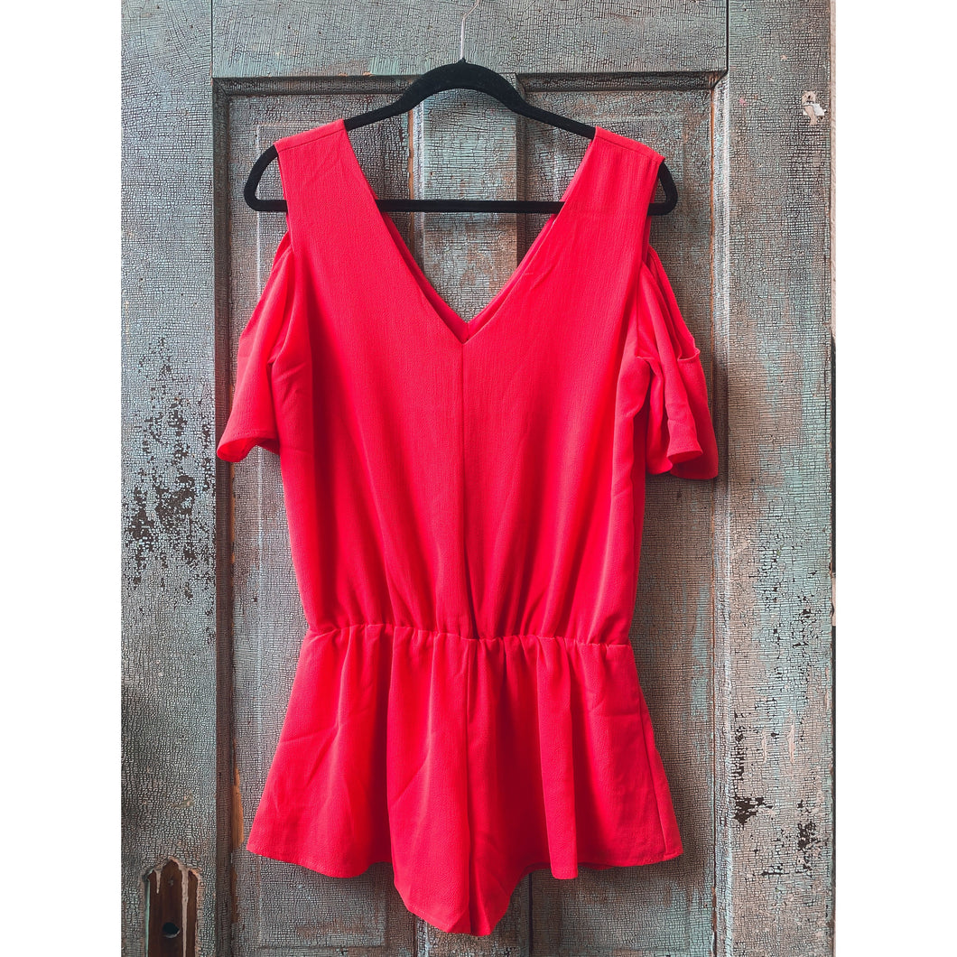 Red Romper w/ Back Opening