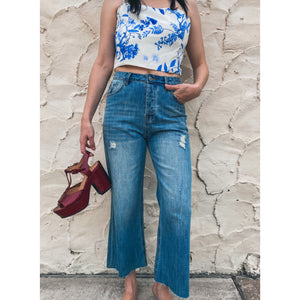 Kick Flare Jeans in Mid Wash