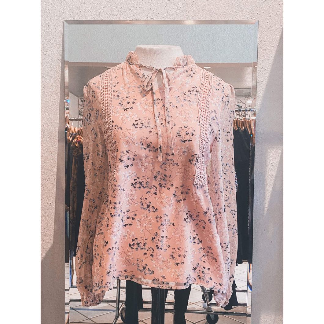Delicate Pink Floral Blouse