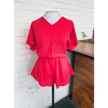 Load image into Gallery viewer, Red Romper w/ Back Opening