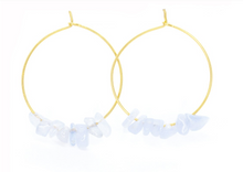 Load image into Gallery viewer, Rock Candy Stone Hoop Earrings