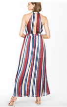 Load image into Gallery viewer, Striped Maxi Party Dress