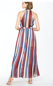 Striped Maxi Party Dress