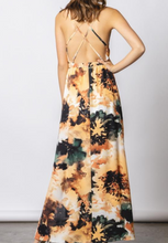 Load image into Gallery viewer, Abstract Criss Cross Back Maxi Dress