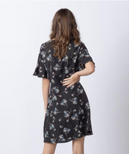 Load image into Gallery viewer, Ruffle Sleeve Button Down Midi Dress