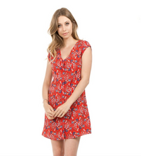 Load image into Gallery viewer, Button Down V Neck Mini Dress