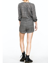 Load image into Gallery viewer, Rolled-Up Sleeve Grey Romper