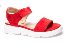 Load image into Gallery viewer, Ashville Mirco Suede Sandal in Red