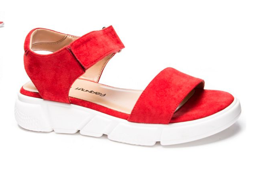 Ashville Mirco Suede Sandal in Red