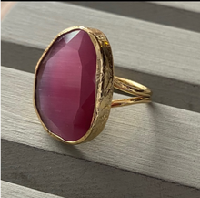 Load image into Gallery viewer, Glass Stone Adjustable Rings