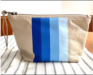 Genuine Leather 'Blue Tones' Clutch