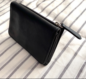 Genuine Leather Snap Wallet