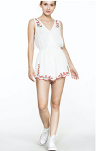 Load image into Gallery viewer, Floral Embroidered Breezy Romper